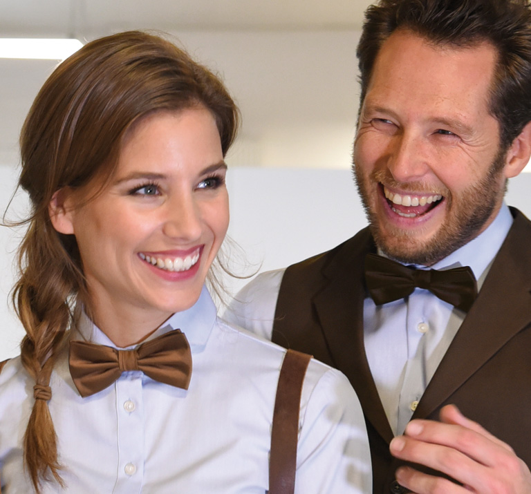 Bow ties knitted