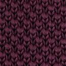 Necktie knitted aubergine