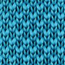 Necktie knitted cyan blue