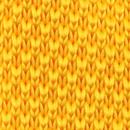 Necktie knitted yellow