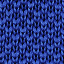 Necktie knitted royal blue