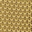 Necktie knitted mustard