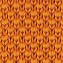 Necktie knitted orange