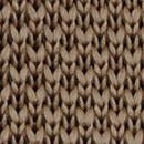 Necktie knitted warm taupe
